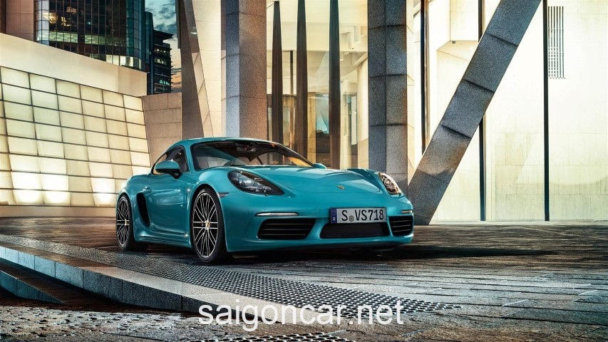 Porsche Cayman Dau Xanh