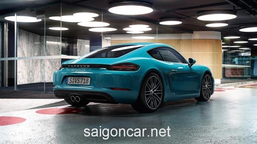 Porsche Cayman Duoi Xanh