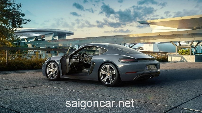 Porsche Cayman Hong Xe